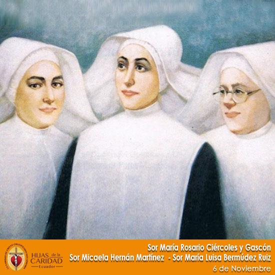 Beatas: Sor María Rosario Ciércoles y Gascón – Sor Micaela Hernán Martínez –  6 de Noviembre